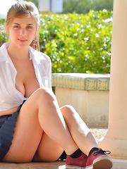 Lindsey Busty Schoolgirl